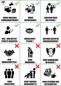 Regeln während der Bedienung